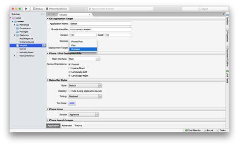 xamarin reset layout ios running xamarin iphone app on ipad as an ipad