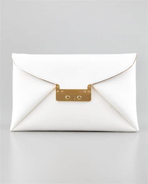 White Clutch vbh prive leather clutch bag white in white lyst