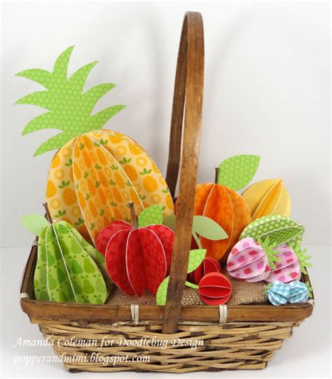 How To Make Fruit Out Of Paper - popper and mimi 3d paper fruit in a basket