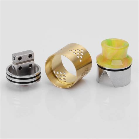 Driptip 520 Driptip Automizer baal v4 style rda golden 24mm atomizer w resin wide bore drip tip