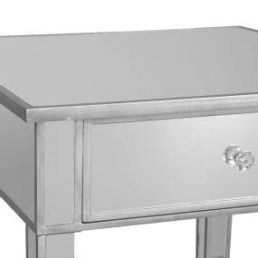 sei mirage mirrored 2 drawer console table sei mirage mirrored accent table my home