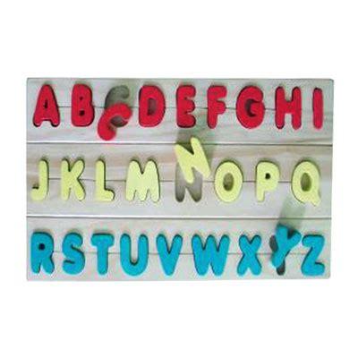 Mainan Edukatif Puzzle Edukasi Beruang Huruf Kecil mainan kayu edukatif puzzle kayu abjad huruf besar kayu seru