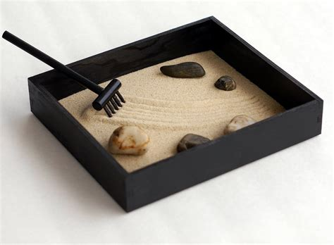 Garden Desk Accessories Zen Gifts Black Decor Mini Zen Garden Office Gifts For