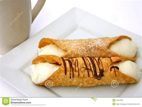 Kitchen Plans With Islands Cannoli Pastry Dessert Royalty Free Stock Photo Image