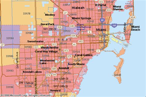 miami zip code map miami zip code map zip code map