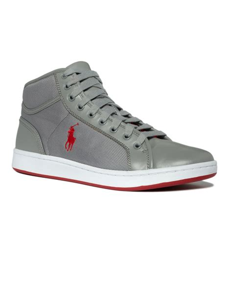 fancy polo ralph shoes trevose mid sneakers