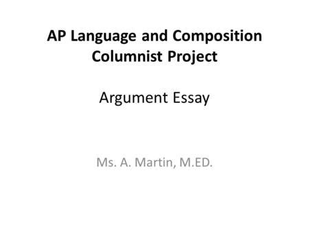 ap language and composition sle essays in cold blood truman capote ppt