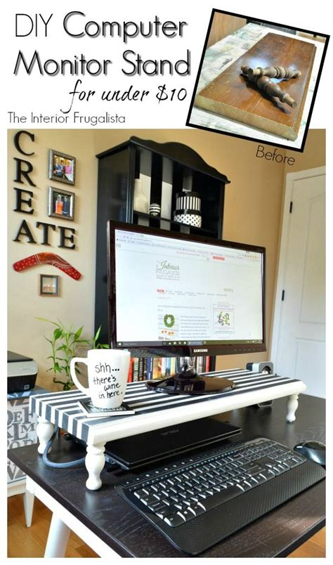 Computer Desk Organization Ideas 25 Best Ideas About Monitor On Pinterest Monitor Stand