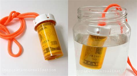 question what to craft with pill bottles turn a pill bottle into a waterproof money container