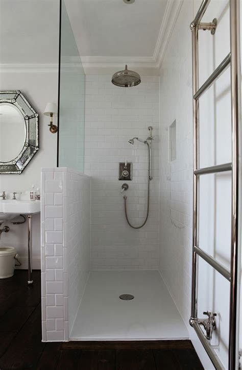 white subway tile walk in shower 31 white subway tile in shower ideas and pictures