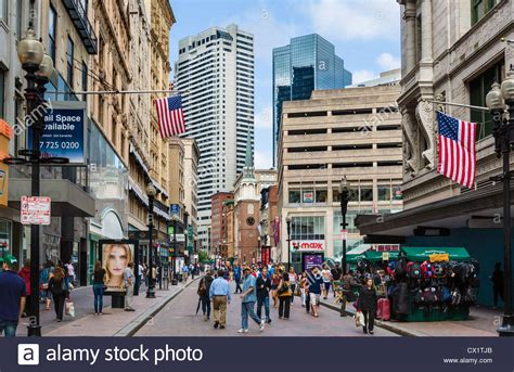 Shops On Washington In The City Centre Boston