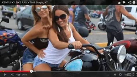 Little Sturgis Rally And Races 2014 Little Sturgis Kentucky   video preview image girls on a bike at the 2013 kentucky
