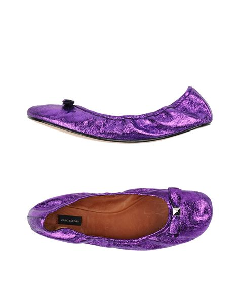 purple flats shoes marc ballet flats in purple lyst