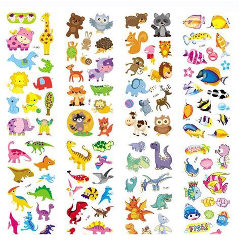 Stiker Kulkas Pony 6 pcs lot 3d gelembung dinosaurus stiker busa kartun