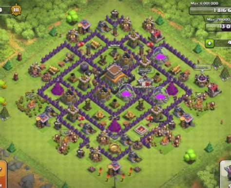 layout village clash of clans clash of clans town hall level 8 trophy base car