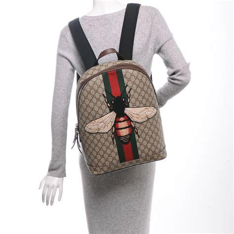 Backpack Fashion Bee gucci gg supreme monogram web animalier bee backpack 185456