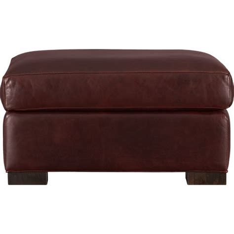 ottoman crate and barrel axis ii leather ottoman crate and barrel ottomans and
