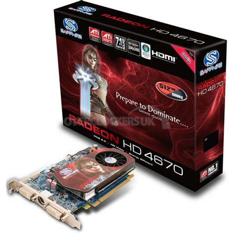 Vga Card Ati Radeon Hd 4600 sapphire ati radeon hd 4670 512mb gddr3 tv out dvi hdmi