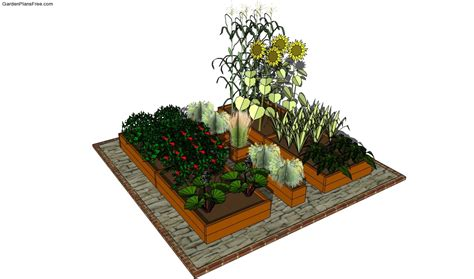 Flower And Vegetable Garden Layout Raised Garden Bed Plans Free Free Garden Plans How To Build Garden Projects