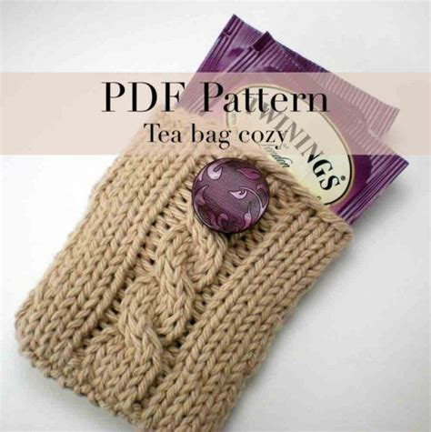 tea bag hat knitting pattern tea bag caddy knit tea tote knitting