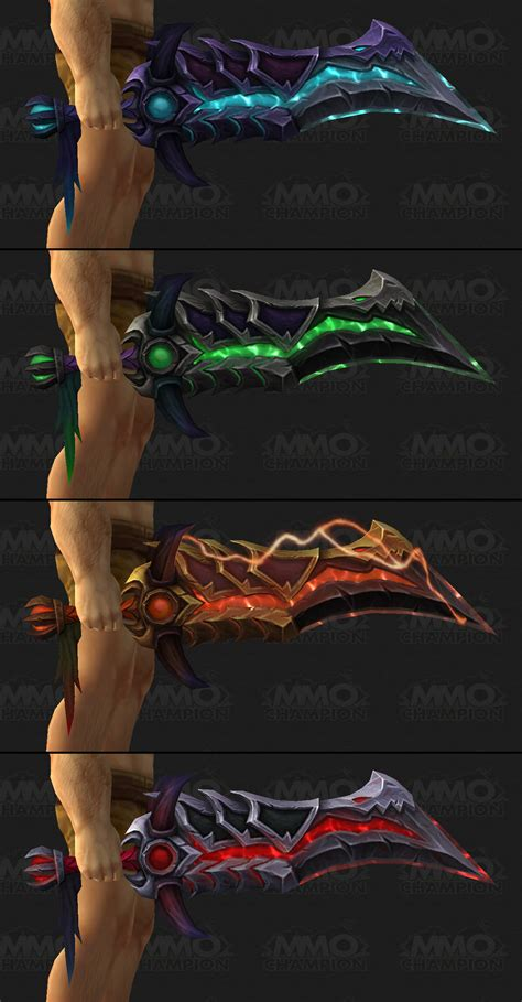 legion artifact weapon skins fury legion artifact weapon previews nightfallen and