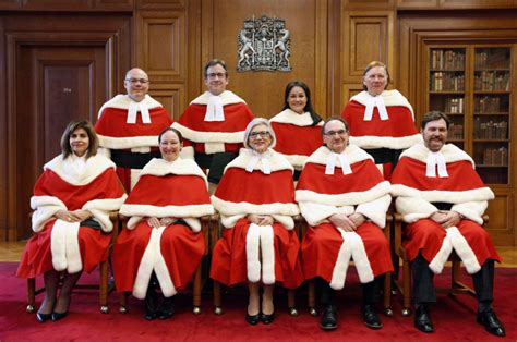 the supreme a look at the supreme court of canada justices as sheilah