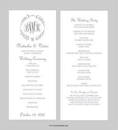 Free Wedding Menu Templates For Microsoft Word by 18 Free Wedding Templates In Microsoft Word Format