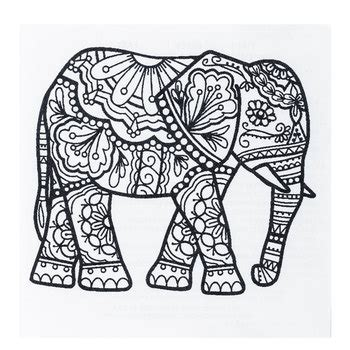 anti stress coloring book hobby lobby elephant zendoodle iron on transfer bag inspiration