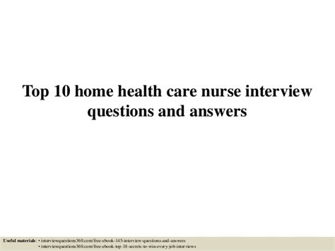 top 10 home health care questions and answers