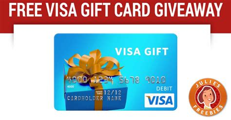 Can You Get Cash Off A Visa Gift Card - 25 visa gift card instant win game julie s freebies
