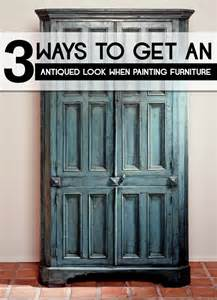 Get an antiqued look when painting furniture painted furniture ideas