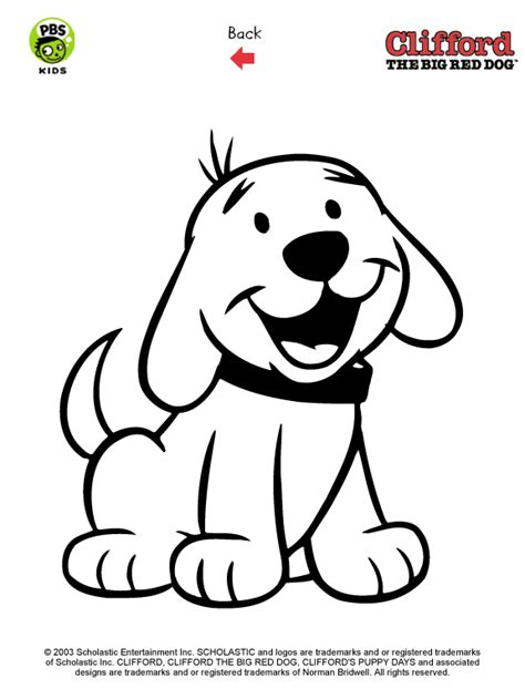 puppy clifford clifford printables puppy coloring pages pbs