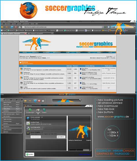 firefox themes deviantart socccergraphics firefox theme by soccer graphics on deviantart
