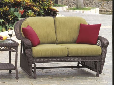 hton bay wicker loveseat south sea rattan montego bay wicker cushion arm glider
