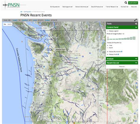 map of oregon earthquake zones oregon and washington faults added to pnsn earthquake map