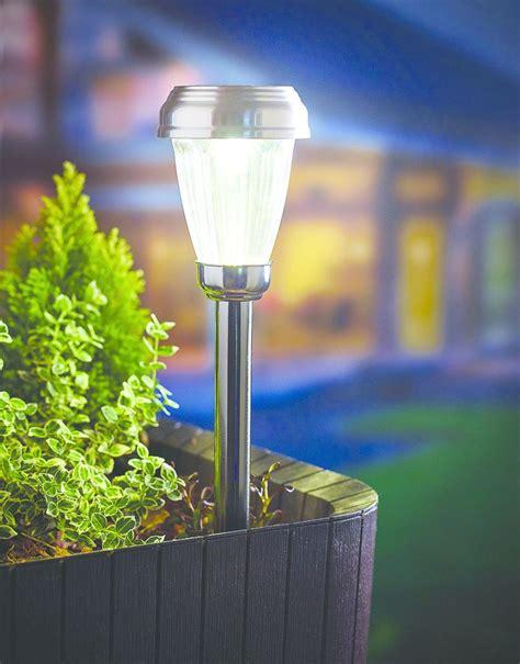 Gardman Solar Lights Gardman Solar Garden Marker Light Black Nickel White Led