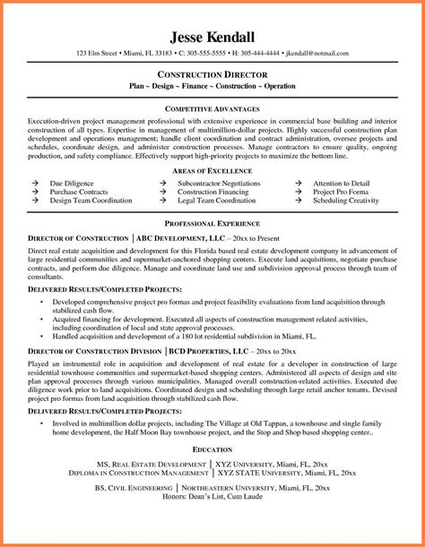 resume sles for it company 9 construction company resume template company letterhead