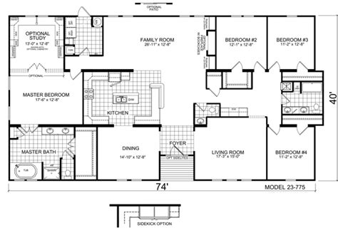 wide floor plans nc welburg 40 x 74 3001 sqft mobile home factory expo home