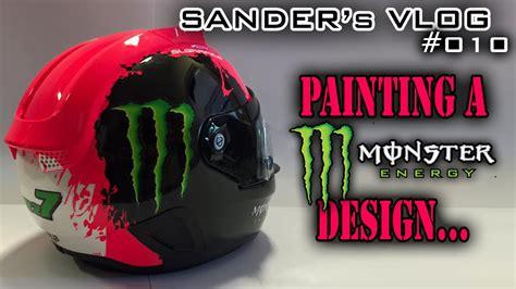 design helmet monster painting a monster energy design on a helmet sander s