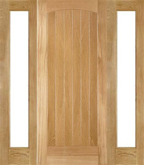 External Oak Front Doors External Oak Doors With Sidelights
