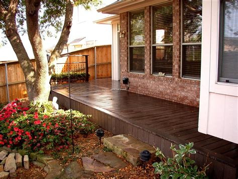 redwood color composite decking redwood color combine expose brick wall