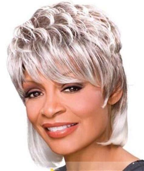 sweety short wavy gray african american lace wigs for women 6 inch wigs pinterest short hot short curly gray african american lace wigs for women