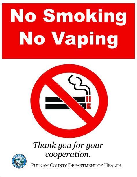 no smoking sign hackintosh putnam county implements no smoking no vaping policy