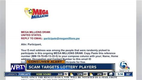 Mega Millions Sweepstakes Scams - florida lottery warns of mega millions scam wptv com