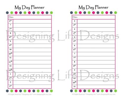 printable day planner 5 5 x 8 5 printable day planner set 5 5 x 8 5 refills for a mini
