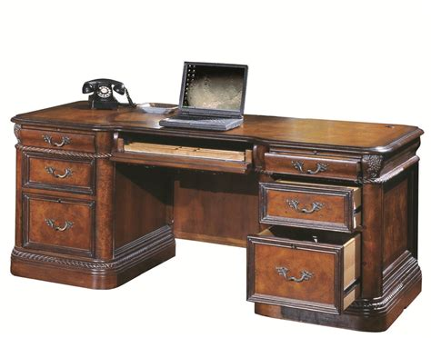 72 inch desk with drawers aspenhome napa 7 executive desk with ash burl