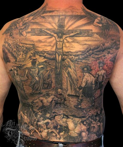 jesus crucifixion tattoo the crucifixion in motion studio