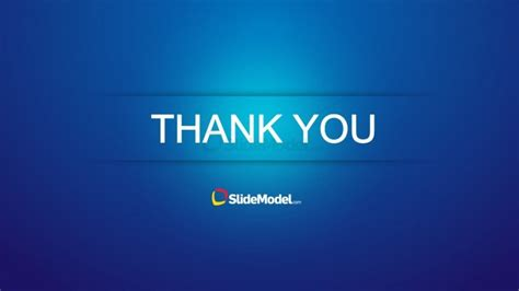 Blue Thank You Slide Design For Powerpoint Slidemodel Thank You Slide For Ppt Images