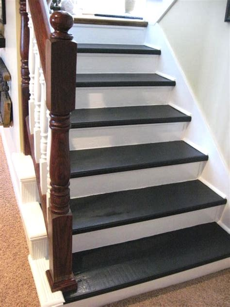 painted wood stairs