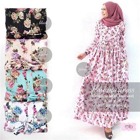 Supplier Baju Beltic Dress Ori By Mlb Flowings Roses ready flowing dress 120 by mlb supplier baju murah